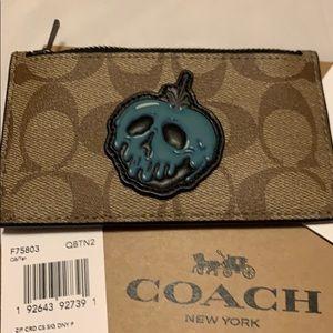 Coach Accessories - Coach Card Holder Disney Snow White Poison Apple